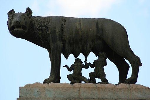 Rome, Landmark, Capitoline She-wolf, Romulus, Remus