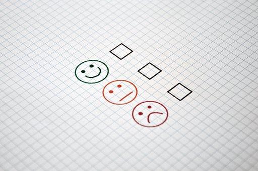 Feedback, Checklist, Job, Gut, Satisfactory, Bad