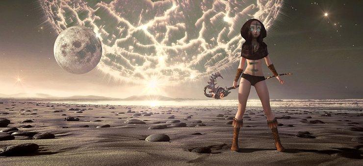 Fantasy, Science Fiction, Planet, Species, Moon
