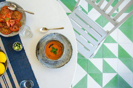 Table, Chairs, Food, Design, Decoration, Beach