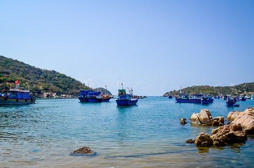 The Sea, Coast, Scenery, Natural, Vietnam, Vinh Hy