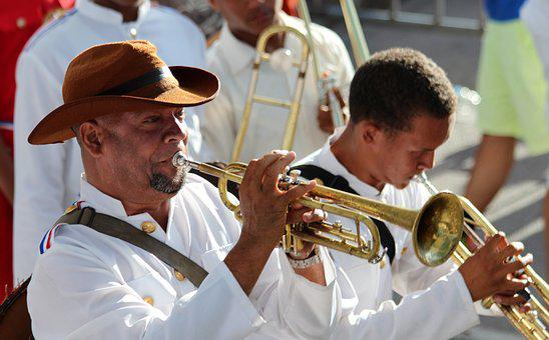 Musician, Men, Play, Music, Trumpet, Carnival