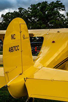 Vintage, Aircraft, Tail Dragger, Old, Wings