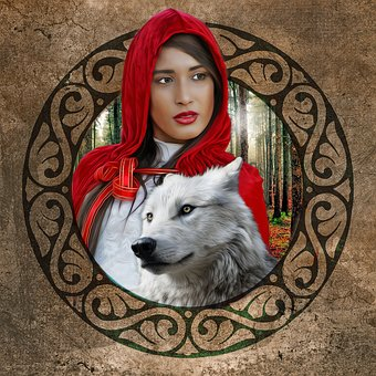 Red Riding Hood, Red Hood, Wolf, Fantasy