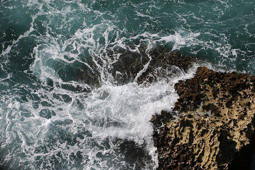Beach, Drone, Rocks, Water, Aerial, Nature, Outdoor