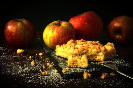 Apple, Apple Pie, Streusel Cake, Sweet, Bake
