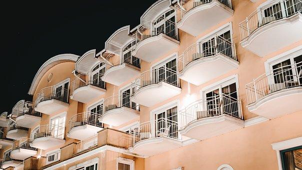 Hotel, Room, Luxury, Balconies, House, Architecture