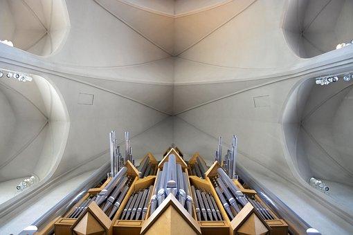 Church, Organ, Music, Architecture, Religion