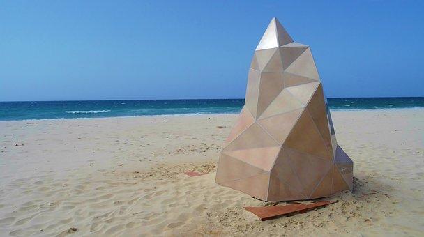 Sculpture, Beach, Art, Sea
