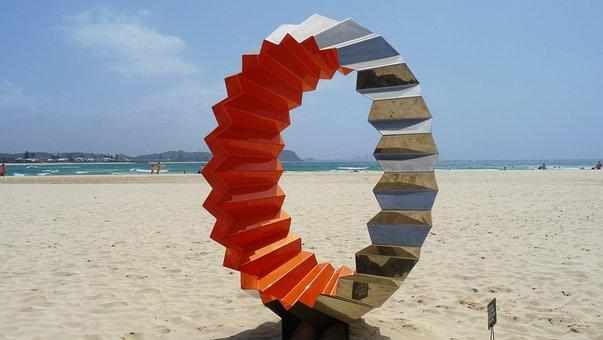 Sculpture, Art, Beach, Abstract, Artwork, Coast, Ocean