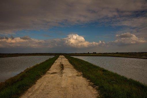 Road, Sky, Cloud, Water, Landscape, Nature, Horizon