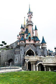 Disneyland, Paris, France, Disney, Building, Castle