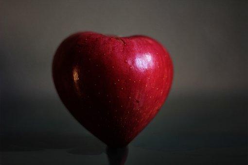 Apple, Love, Heart, Eat, Fruit, Red, Emotion, Healthy