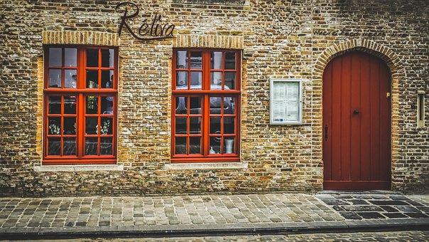 Facade, Restaurant, Old, Architecture, Door, Window