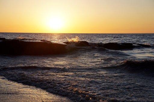 Ocean, Lake Erie, Sea, Water, Lake, Ohio, Coastal