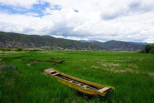 Landscape, China, Boat, Lake, Scenery