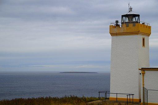 Scotland, Lighthouse, Sea, North, United Kingdom, Water