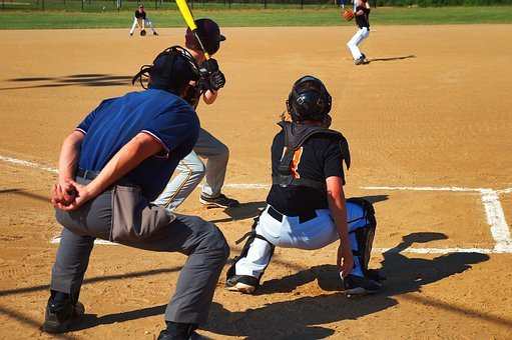 Baseball, Boy, Son, Glove, Little League, Umpire
