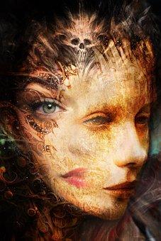 Mask, Person, Eye, Woman, Art, Head, Mystic, Soul