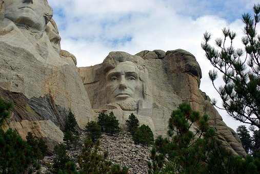 Abraham Lincoln On Rushmore, Mount, Rushmore, Usa