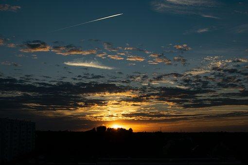Sunset, Sunrise, Nature, Beautiful, Sky, Clouds, Sun