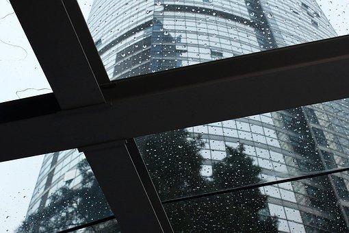 Building, City, Non, Windows, Memory, Drop, Veranda