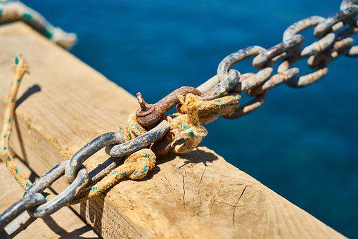 Chain, Connect, Detail, Solid, Rust, Rusty, Old, Port