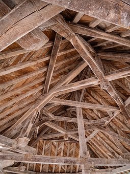 Old, Vintage, Medieval, Beams, Wood, Original, Build