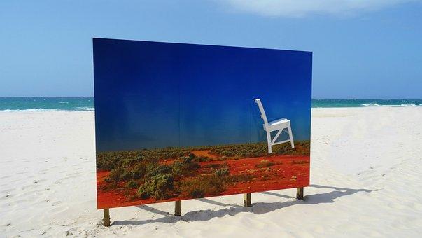 Australian Art, Beach, Sun, Outback Art, Abstract