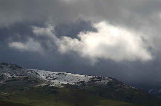 Palazuelos De Eresma, Clouds, Sky, Segovia, Spain, Snow