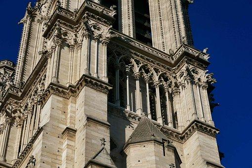 Notre-dame, Paris, Gothic, Church, Architecture, Dom