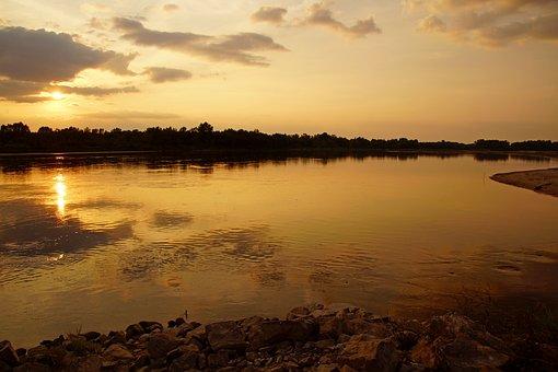 Wisla, Water, River, Landscape, Poland, Sky, Nature