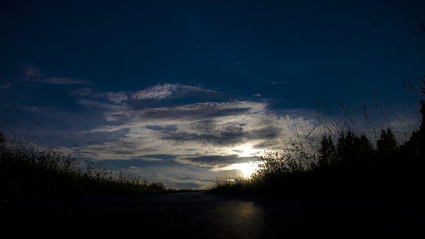 Moonrise Kingdom, Moon, Night, Stars, Sky, Landscape