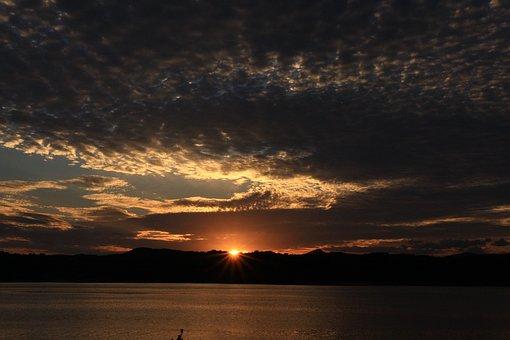 The Night Sky, Glow, Sunset, Sky, Night View, Solar