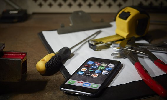 Iphone, Phone, Apple, Tools, Screwdriver, Clamp