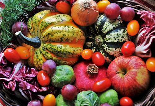 Shopping Cart, Vegetables, Autumn, Fresh, Vitamins