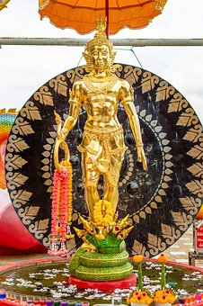 Wat Samanrat, Tanaram, Thailand, Ganesha, Shrine