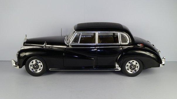 Mercedes, 300c, 1955, 1x18, Model Car, Ricko