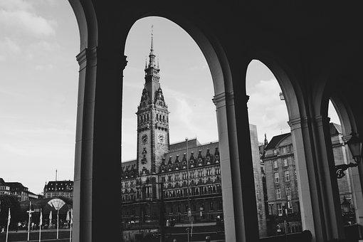 Hanseatic City Of Hamburg, Town Hall, Alsterarkaden