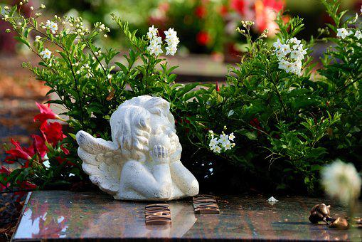 Angel, Grave, Cemetery, Sculpture, Mourning, Statue