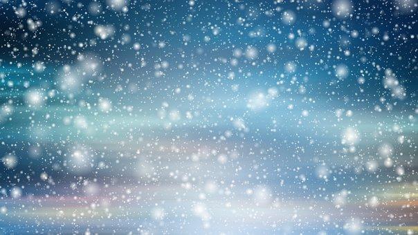 Background, Abstract, Christmas, Bokeh, Lights, Snow