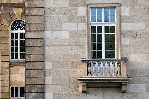 Balcony, Window, Facade, House Facade, House, Design