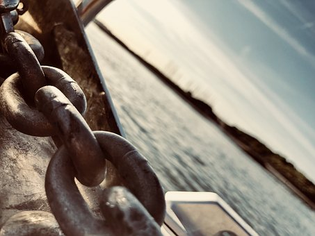 Chain, Anchor, Sail, Water, Ship, Boat