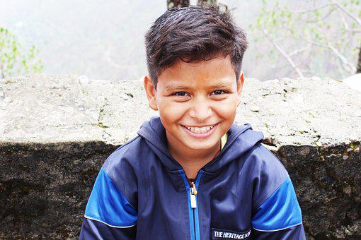 Himalayan Boy, Smile, Happy Boy, Happiness, Young, Boy
