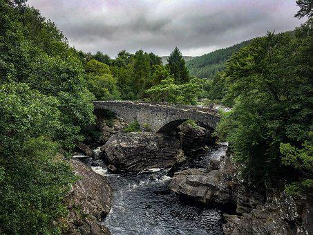 Scotland, Great Glen Way, Hiking, Hike, Bridge, River
