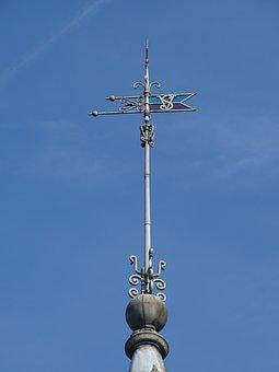 Weather Vane, Sky, Keep, Building, Wind, Roof