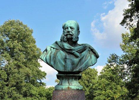Monument, Bust, Emperor Wilhelm I, Figure