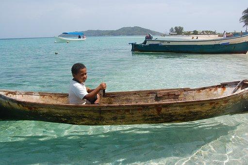 Canoe, Honduras, Clear, Water