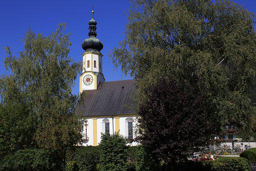 Church, Baroque, Architecture, Building, Trees