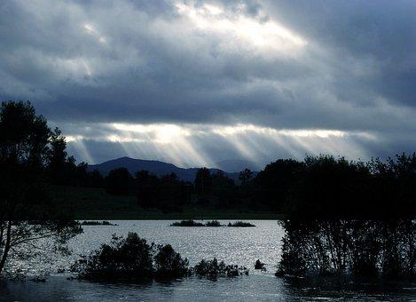 Clouds, Storm, Sunrays, Weather, Sunbeams, Light